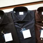 AVINO(アヴィーノ) Poplin Dress Shirts コットン ブロード ポプリン ドレスシャツ BLACK(ブラック),NAVY(ネイビー),BROWN(ブラウン), made in italy (イタリア製) 2019 秋冬のイメージ