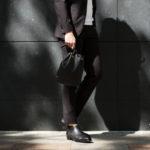 Cisei (シセイ) Drawstring Bag (ドローストリングバッグ) Lindos Leather (リンドス レザー) レザードローストリングバック 巾着 NERO (ブラック) Made in italy (イタリア製) 2019 春夏新作のイメージ