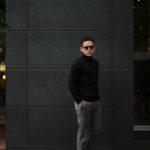 Cuervo (クエルボ) Sartoria Collection (サルトリア コレクション) John(ジョン) Turtle Neck Sweater (タートルネックセーター) ウールニット セーター BLACK (ブラック) MADE IN JAPAN (日本製) 2019 秋冬 【ご予約受付開始】のイメージ