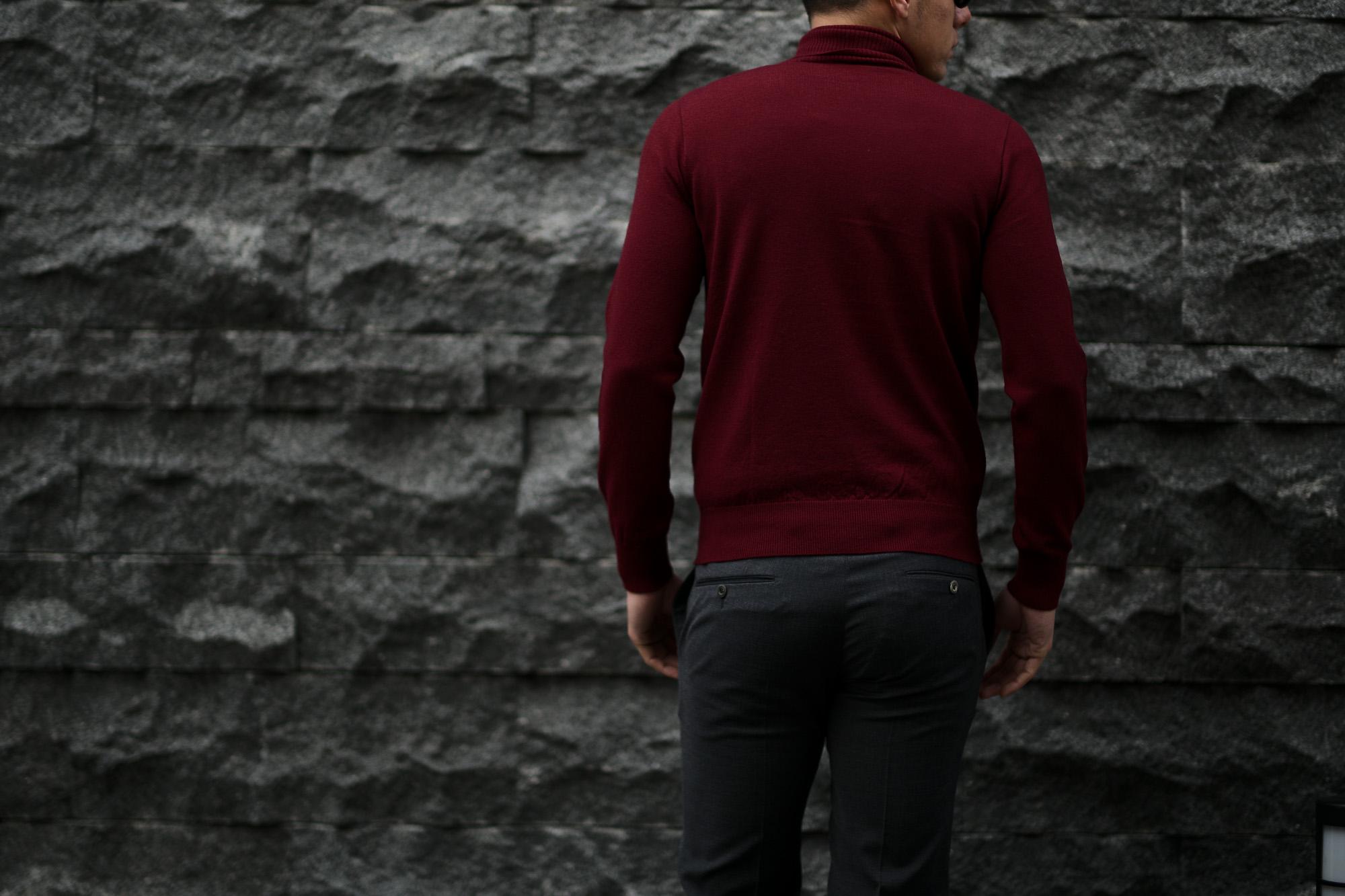 Cuervo (クエルボ) Sartoria Collection (サルトリア コレクション) John(ジョン) Turtle Neck Sweater (タートルネックセーター) ウールニット セーター BORDEAUX (ボルドー) MADE IN JAPAN (日本製) 2019 秋冬 愛知 名古屋 altoediritto アルトエデリット