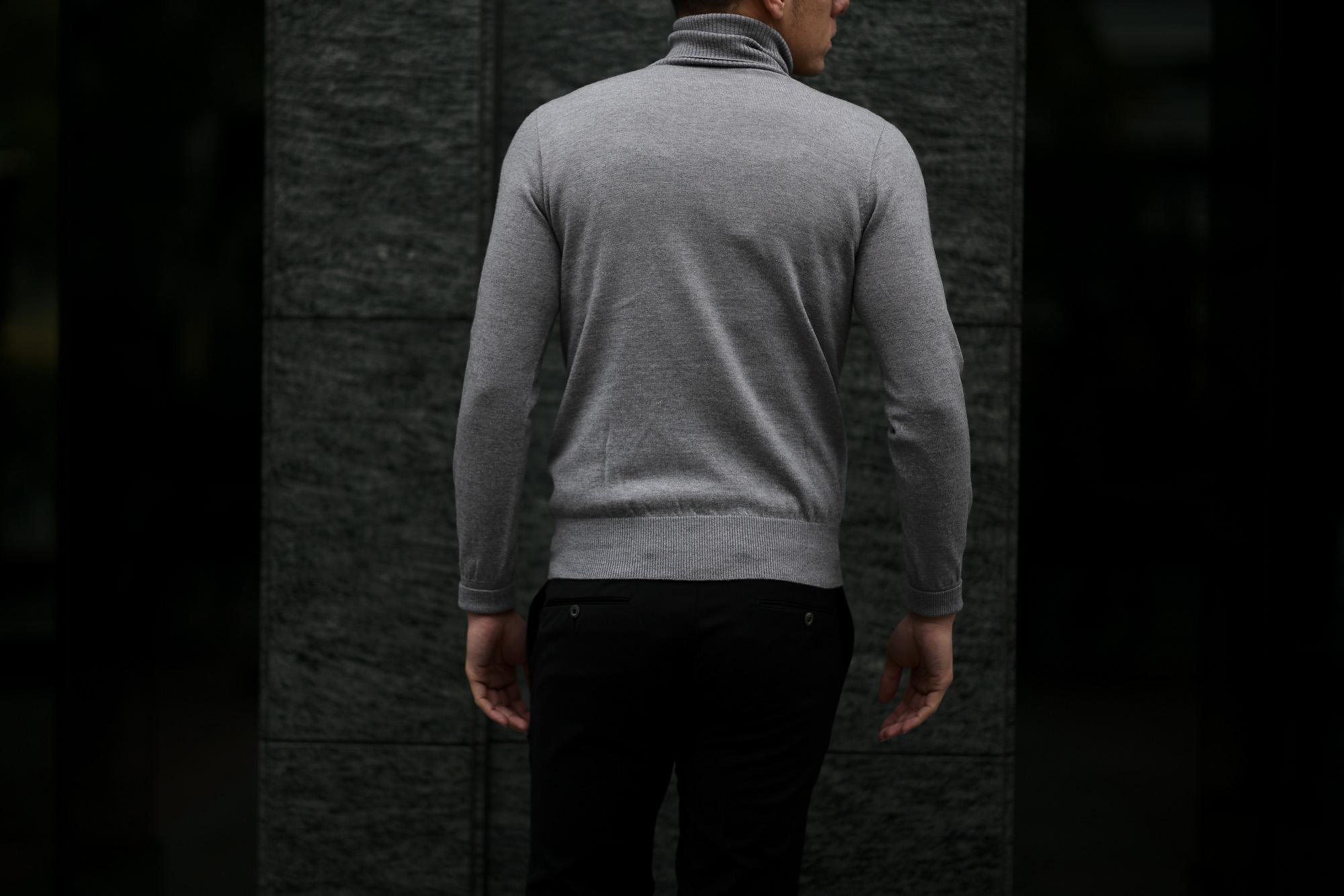 Cuervo (クエルボ) Sartoria Collection (サルトリア コレクション) John(ジョン) Turtle Neck Sweater (タートルネックセーター) ウールニット セーター GRAY (グレー) MADE IN JAPAN (日本製) 2019 秋冬 【ご予約受付開始】愛知 名古屋 altoediritto アルトエデリット