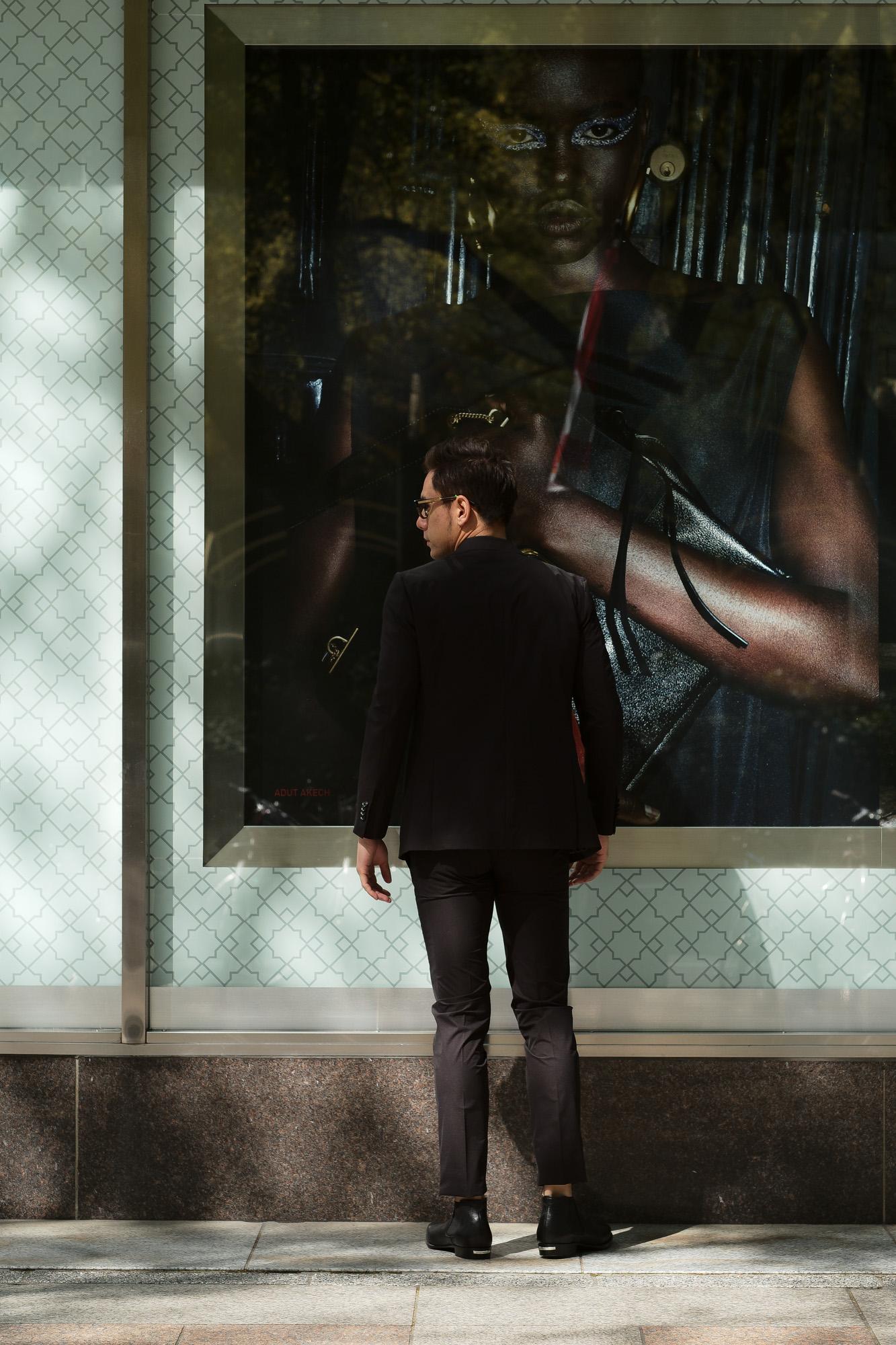 Cuervo (クエルボ) Sartoria Collection (サルトリア コレクション) Rooster (ルースター) STRETCH NYLON ストレッチナイロン スーツ BLACK(ブラック) MADE IN JAPAN (日本製) 2019 春夏 【ご予約受付中】  愛知 名古屋 alto e diritto アルトエデリット