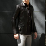 Cuervo (クエルボ) Satisfaction Leather Collection (サティスファクション レザー コレクション) East West(イーストウエスト)  SMOKE(スモーク) BUFFALO LEATHER (バッファロー レザー) レザージャケット BROWN(ブラウン) MADE IN JAPAN (日本製) 2019 秋冬 【ご予約開始】のイメージ