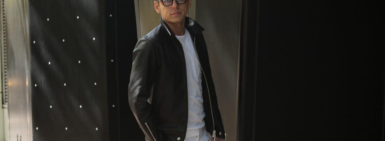 Cuervo (クエルボ) Satisfaction Leather Collection (サティスファクション レザー コレクション) TOM (トム) BUFFALO LEATHER (バッファロー レザー) シングル ライダース ジャケット BLACK (ブラック) MADE IN JAPAN (日本製) 2019 秋冬 【ご予約受付中】のイメージ