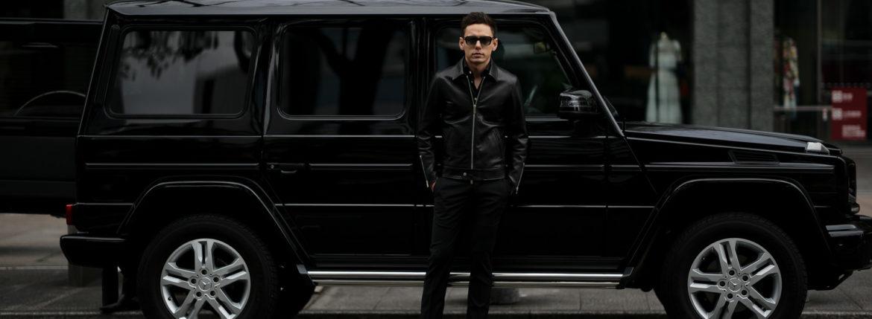 Cuervo (クエルボ) Satisfaction Leather Collection (サティスファクション レザー コレクション) TOM (トム) BUFFALO LEATHER (バッファロー レザー) シングル ライダース ジャケット BLACK (ブラック) MADE IN JAPAN (日本製) 2019 秋冬 【ご予約開始します】のイメージ