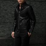 Cuervo (クエルボ) Satisfaction Leather Collection (サティスファクション レザー コレクション) TOM (トム) BUFFALO LEATHER (バッファロー レザー) シングル ライダース ジャケット BROWN (ブラウン) MADE IN JAPAN (日本製) 2019 春夏 【ご予約開始】のイメージ