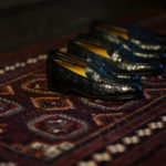 ENZO BONAFE (エンツォボナフェ) ART. EB-08 Crocodile Coin Loafer (クロコダイル コイン ローファー) Mat Crocodile Leather マット クロコダイル レザー ドレスシューズ ローファー NERO (ブラック) made in italy (イタリア製) 2019 春夏新作 愛知 名古屋 enzobonafe エンツォボナフェ eb08 ローファー zodiac nagoya alto e diritto altoediritto アルトエデリット コードバン 5,5.5,6,6.5,7,7.5,8,8.5,9,9.5