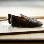 ENZO BONAFE (エンツォボナフェ) ART. EB-08 Crocodile Coin Loafer (クロコダイル コイン ローファー) Mat Crocodile Leather マット クロコダイル レザー ドレスシューズ ローファー NERO (ブラック) made in italy (イタリア製) 2019 春夏新作のイメージ