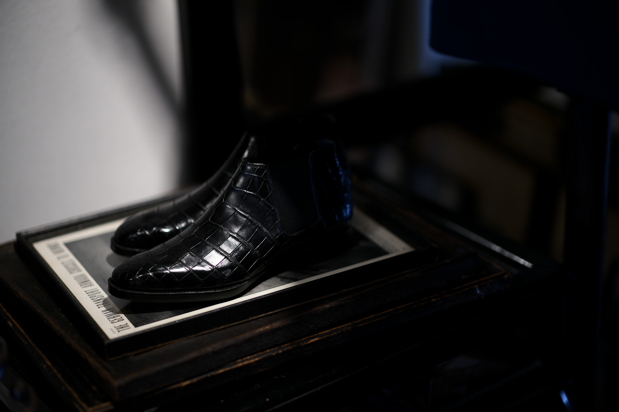 Georges de Patricia(ジョルジュ ド パトリシア) Diablo Crocodile (ディアブロ クロコダイル) 925 STERLING SILVER (925 スターリングシルバー) Crocodile クロコダイル エキゾチックレザー サイドゴアブーツ NOIR (ブラック) 2019 春夏新作 【Special Boots】【第2便ご予約受付中】アルトエデリット ジョルジュドパトリシア ブーツ 超絶ブーツ ランボルギーニ ディアブロ lamborghini