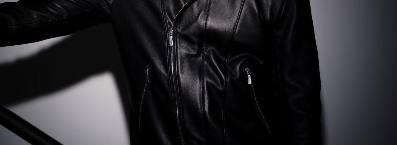 Georges de Patricia (ジョルジュ ド パトリシア) Huracan(ウラカン) 925 STERLING SILVER (925 スターリングシルバー) Super Soft Sheepskin ダブル ライダース ジャケット NOIR (ブラック) 2019 秋冬のイメージ