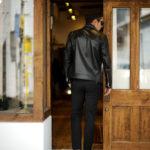 Georges de Patricia (ジョルジュ ド パトリシア) Huracan(ウラカン) 925 STERLING SILVER (925 スターリングシルバー) Super Soft Sheepskin ダブル ライダース ジャケット NOIR (ブラック) 2019 秋冬 【ご予約受付中】のイメージ