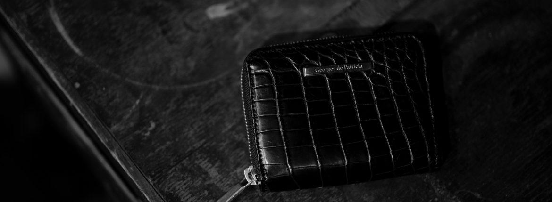 Georges de Patricia(ジョルジュ ド パトリシア) Phantom Crocodile (ファントム クロコダイル) 925 STERLING SILVER (925 スターリングシルバー) Crocodile クロコダイル エキゾチックレザー ショート ウォレット NOIR (ブラック) 2019 春夏のイメージ
