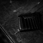 Georges de Patricia(ジョルジュ ド パトリシア) Phantom Crocodile (ファントム クロコダイル) 925 STERLING SILVER (925 スターリングシルバー) Niloticus Crocodile ニロティカス クロコダイル エキゾチックレザー ショート ウォレット NOIR (ブラック) 2019 春夏のイメージ