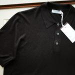 Gran Sasso (グランサッソ) Silk Knit Polo Shirt (シルクニット) SETA (シルク 100%) シルク ニット ポロシャツ BLACK (ブラック・099) made in italy (イタリア製) 2019 春夏新作のイメージ