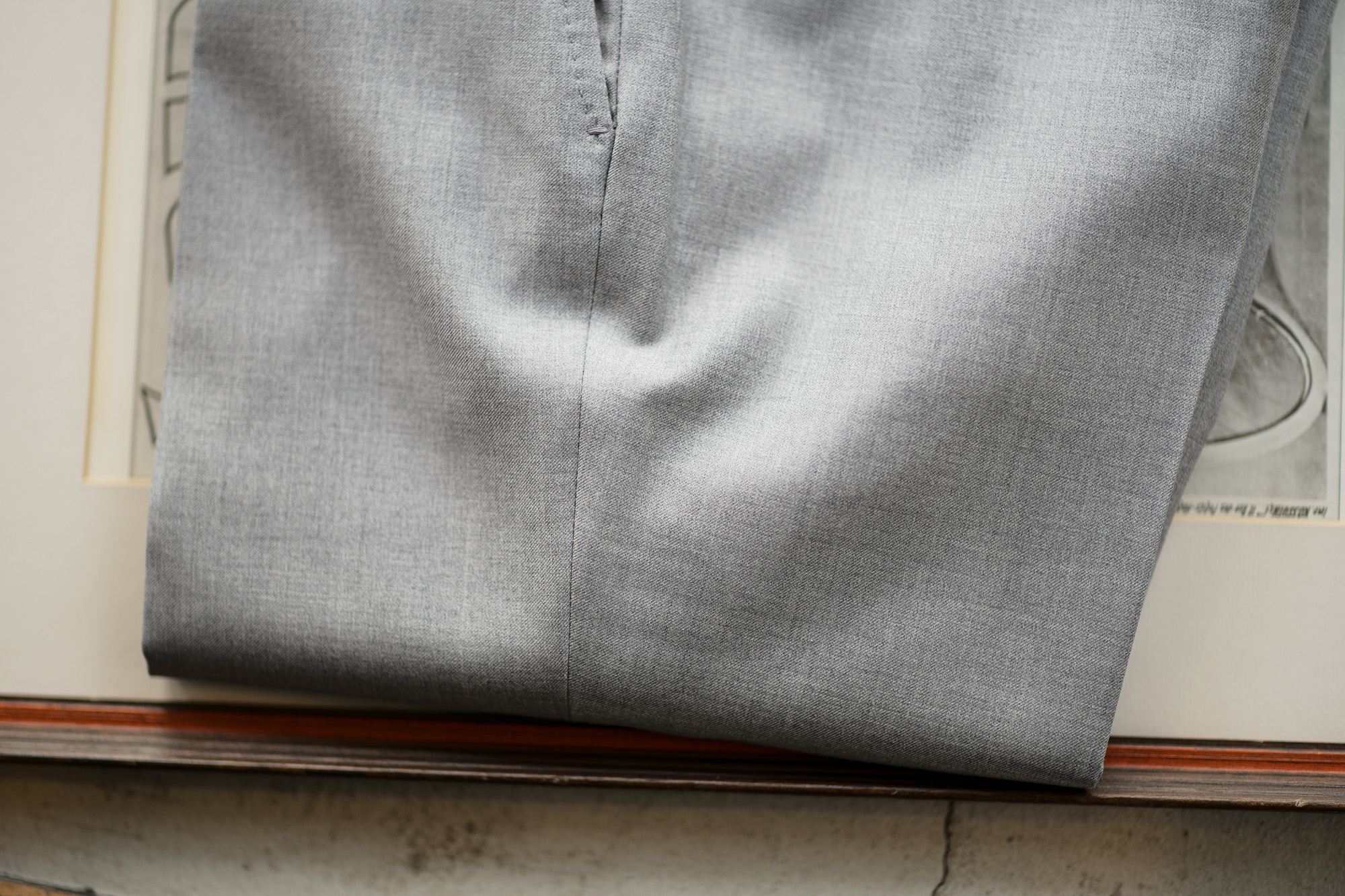 INCOTEX (インコテックス) SARTORIALE (サルトリアーレ) MIT300 SLIM FIT (WOOL & CASHMERE TWILL) ウールカシミアツイル スラックス LIGHT GRAY (ライトグレー・900) Made in italy (イタリア製) 2019 春夏新作 愛知 名古屋 altoediritto アルトエデリット