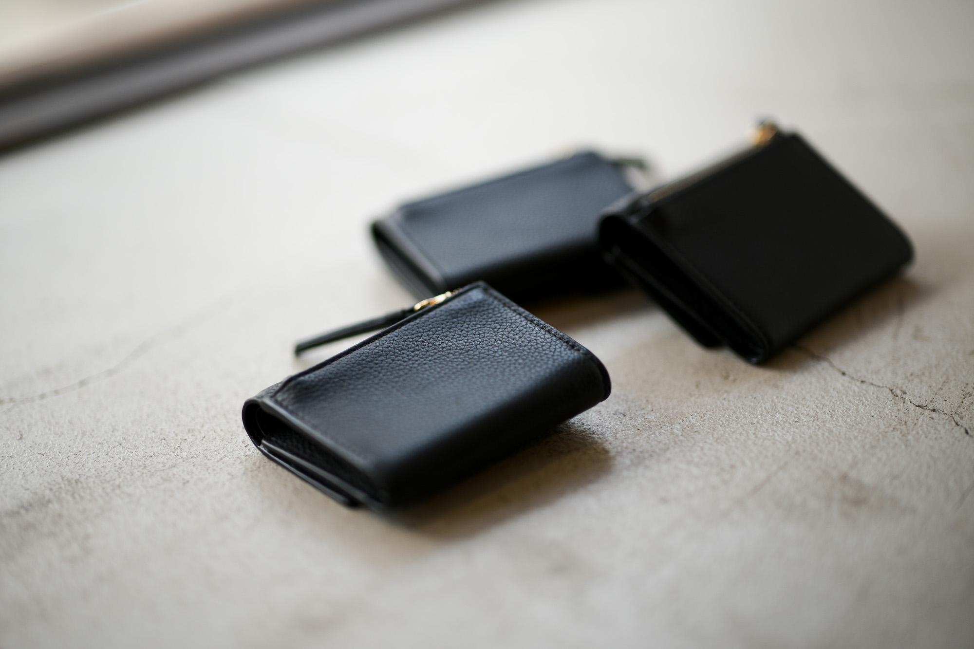 J&M DAVIDSON (ジェイアンドエムデヴィッドソン) TWO FOLD WALLET (トゥー フォルド ウォレット) GRAIN LEATHER (グレインレザー) 折財布 BLACK (ブラック・9990) Made in spain (スペイン製) 2019 春夏新作 jandmdavidson  ジェイエムデヴィッドソン 愛知 名古屋 altoediritto アルトエデリット
