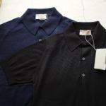 JOHN SMEDLEY (ジョンスメドレー) IMPERIAL KASHMIR (カシミアシリーズ) HADDON (ハードン) CASHMERE × SEA ISLAND COTTON (カシミア × シーアイランドコットン) ショートスリーブ コットンカシミヤニット ポロシャツ NAVY(ネイビー) , BLACK(ブラック)  Made in England (イギリス製) 2019 春夏新作のイメージ