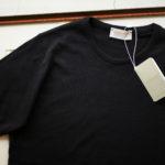 JOHN SMEDLEY (ジョンスメドレー) IMPERIAL KASHMIR (カシミアシリーズ) STONWELL (ストンウェル) CASHMERE × SEA ISLAND COTTON (カシミア × シーアイランドコットン) ショートスリーブ コットンカシミヤニット Tシャツ BLACK (ブラック) Made in England (イギリス製) 2019 春夏新作のイメージ