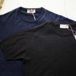 JOHN SMEDLEY (ジョンスメドレー) IMPERIAL KASHMIR (カシミアシリーズ) STONWELL (ストンウェル) CASHMERE × SEA ISLAND COTTON (カシミア × シーアイランドコットン) ショートスリーブ コットンカシミヤニット Tシャツ NAVY(ネイビー) ,  BLACK (ブラック) Made in England (イギリス製) 2019 春夏新作のイメージ
