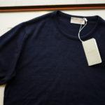 JOHN SMEDLEY (ジョンスメドレー) IMPERIAL KASHMIR (カシミアシリーズ) STONWELL (ストンウェル) CASHMERE × SEA ISLAND COTTON (カシミア × シーアイランドコットン) ショートスリーブ コットンカシミヤニット Tシャツ NAVY(ネイビー) Made in England (イギリス製) 2019 春夏新作のイメージ