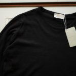 JOHN SMEDLEY (ジョンスメドレー) IMPERIAL KASHMIR (カシミアシリーズ) THEON (テオン) CASHMERE × SEA ISLAND COTTON コットンカシミヤニット セーター BLACK(ブラック) Made in England (イギリス製) 2019 春夏新作のイメージ