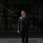 LARDINI (ラルディーニ) EASY WEAR (イージーウエア) Cotton Suit (コットン スーツ) コットン ストレッチ ポプリン スーツ NAVY (ネイビー・4) made in italy (イタリア製) 2019 春夏新作のイメージ