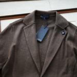 LARDINI (ラルディーニ) Milano Rib Knit Jacket (ミラノリブ ニット ジャケット) コットン ミラノリブ 2B ニットジャケット BROWN (ブラウン・450) Made in italy (イタリア製) 2019 春夏新作のイメージ