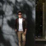 LARDINI (ラルディーニ) Milano Rib Knit Jacket (ミラノリブ ニット ジャケット) コットン ミラノリブ 2B ニットジャケット BROWN (ブラウン・450) Made in italy (イタリア製) 2019 春夏新作 愛知 名古屋 alto e diritto アルトエデリット