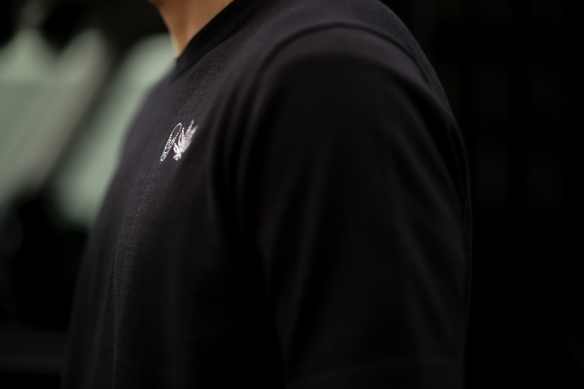 lucien pellat-finet (ルシアン ペラフィネ) SKULL & LEAF ON CHEST ROUND NECK SHORT SLEEVE PULLOVER スカル & リーフ コットン ニット Tシャツ BLACK (ブラック) 2019 春夏新作 lucienpellatfinet 愛知 名古屋 altoediritto アルトエデリット