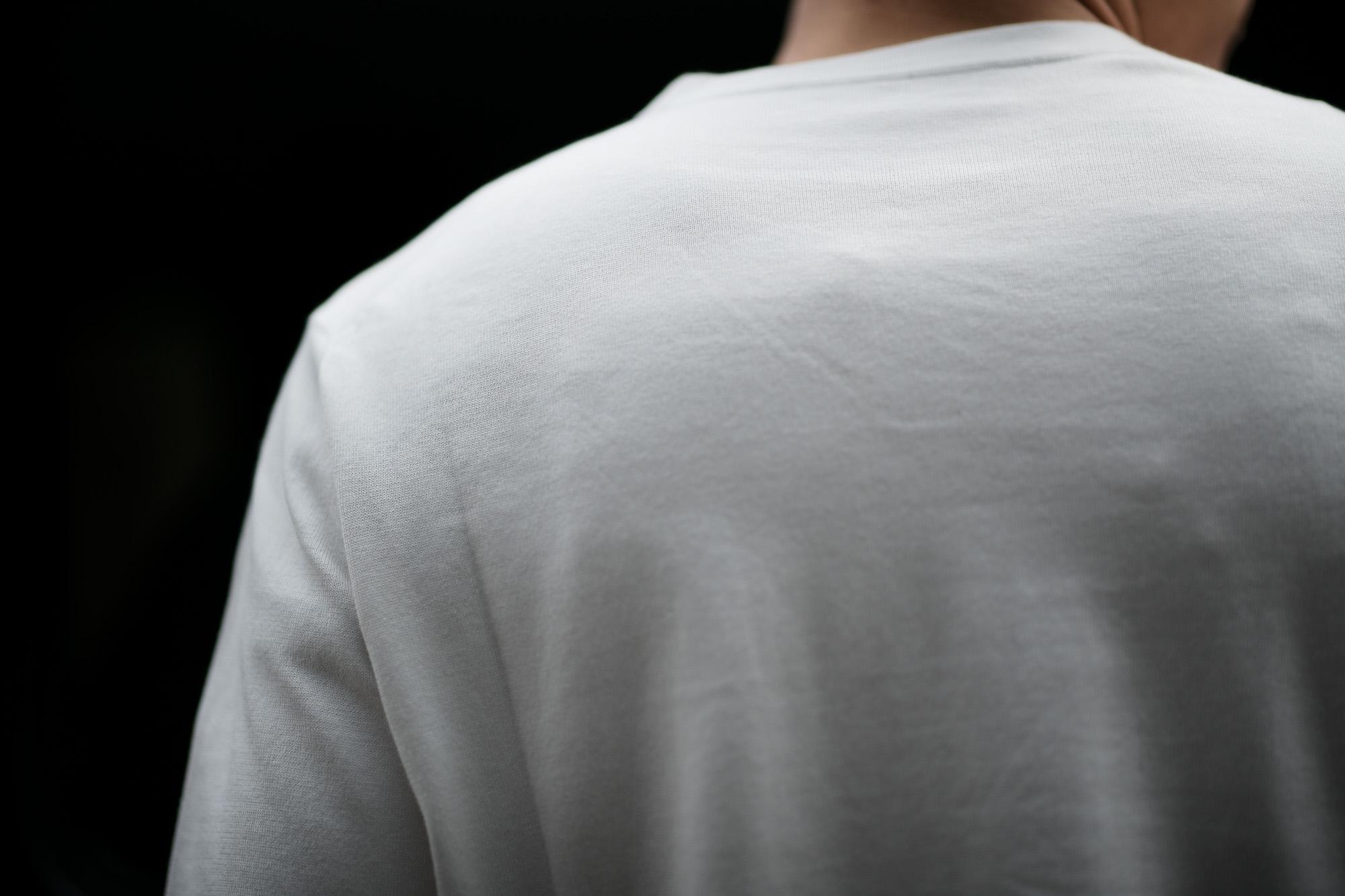 lucien pellat-finet (ルシアン ペラフィネ) SKULL & LEAF ON CHEST ROUND NECK SHORT SLEEVE PULLOVER スカル & リーフ コットン ニット Tシャツ NIVEOUS (ホワイト) 2019 春夏新作 lucienpellatfinet 愛知 名古屋 altoediritto アルトエデリット