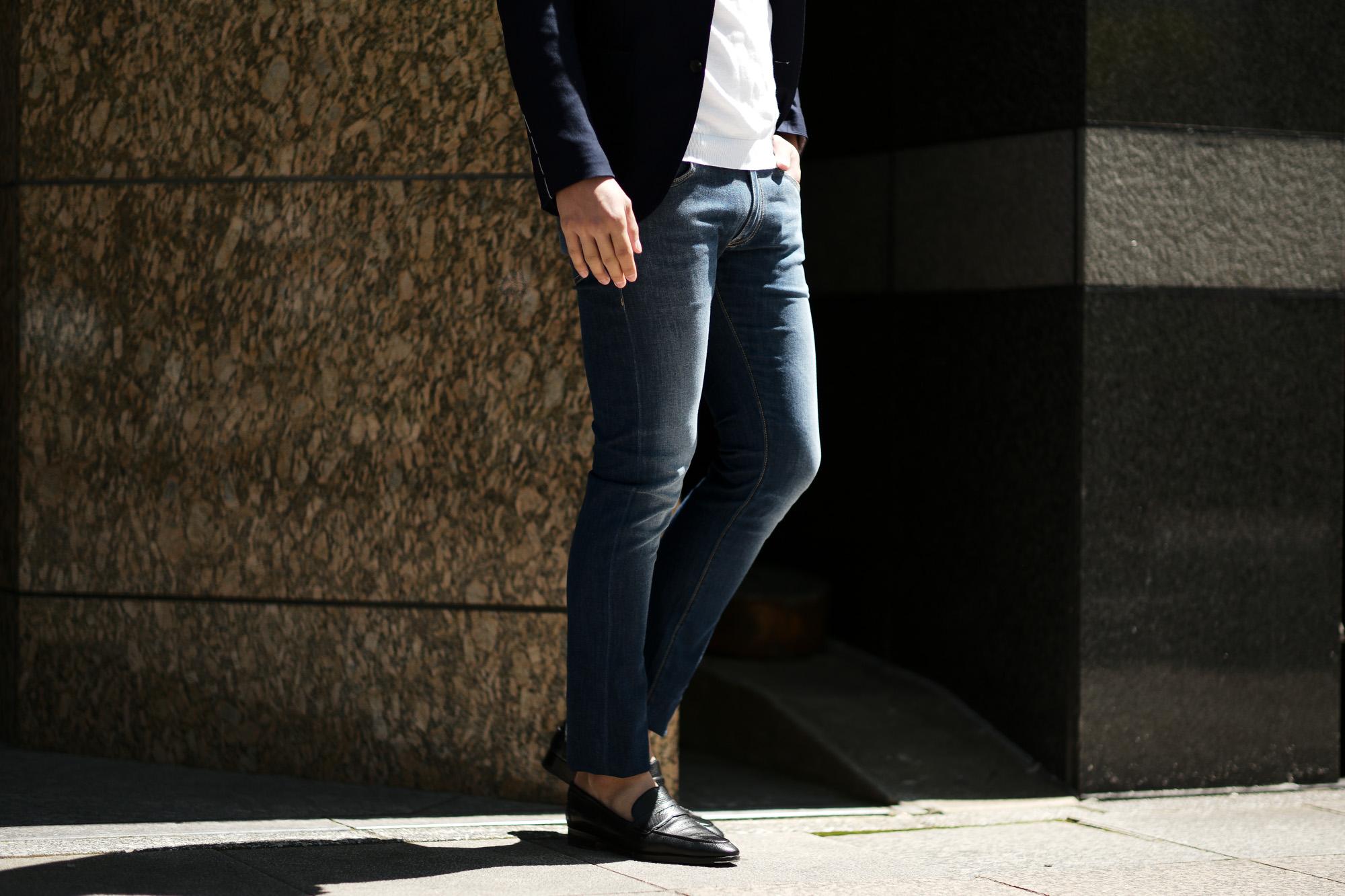 MOORER (ムーレー) CREDI-PS705 (クレディ) Japanese Fabric Comfort Denim (コンフォートデニム) ストレッチ ジーンズ デニムパンツ WASHING 4016 (ブルー) Made in italy (イタリア製) 2019 春夏新作 愛知 名古屋 altoediritto アルトエデリット