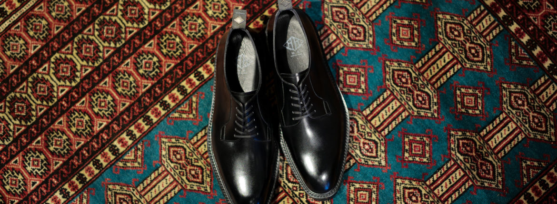 WH (ダブルエイチ) WHZ-0011 Cordovan Plane Toe Shoes (干場氏 スペシャル Zモデル) Trench Last (トレンチラスト) Shell Cordovan シェルコードバンレザー プレーントゥシューズ BLACK (ブラック) MADE IN JAPAN (日本製) 2019 秋冬 【Special限定モデル】【7月27日発売分】【ご予約受付中】のイメージ