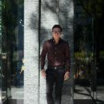 AVINO(アヴィーノ) Poplin Dress Shirts コットン ブロード ポプリン ドレスシャツ BROWN(ブラウン) made in italy (イタリア製) 2019 秋冬 【ご予約受付中】のイメージ