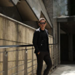 Cruciani (クルチアーニ) Cotton Jersey Jacket (コットンジャージージャケット) Micro Smooth Cotton マイクロスムースコットン ニット ジャケット BLACK (ブラック・2000) made in italy (イタリア製) 2019 春夏新作のイメージ