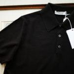 Cruciani (クルチアーニ) Knit Polo Shirt (ニット ポロシャツ) 27ゲージ コットン ニット ポロシャツ BLACK (ブラック・Z0048) made in italy (イタリア製) 2019 春夏新作のイメージ