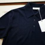 Cruciani (クルチアーニ) Knit Polo Shirt (ニット ポロシャツ) 27ゲージ コットン ニット ポロシャツ NAVY (ネイビー・Z0063) made in italy (イタリア製) 2019 春夏新作のイメージ