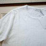 Cruciani (クルチアーニ) Knit T-shirt (ニット Tシャツ) 27ゲージ コットン ニット Tシャツ WHITE (ホワイト・Z0001) made in italy (イタリア製) 2019 春夏新作のイメージ