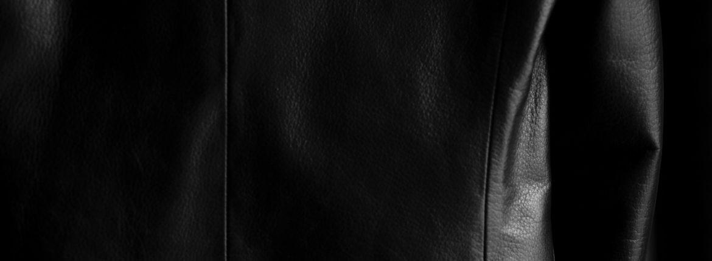 Cuervo (クエルボ) Satisfaction Leather Collection (サティスファクション レザー コレクション) LEON (レオン) BUFFALO LEATHER (バッファロー レザー) シングル テーラード ジャケット BLACK (ブラック) MADE IN JAPAN (日本製) 2019 秋冬のイメージ