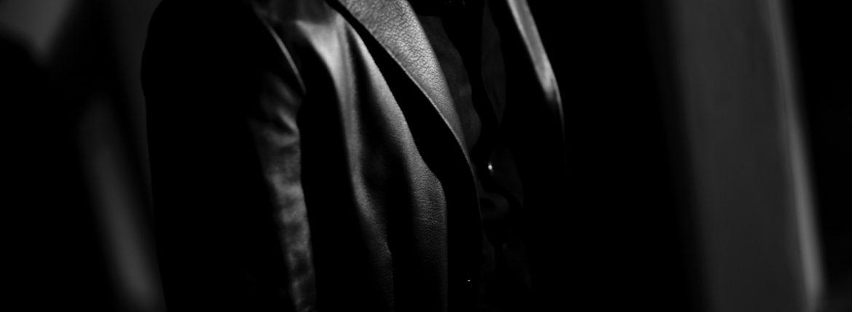 Cuervo (クエルボ) Satisfaction Leather Collection (サティスファクション レザー コレクション) LEON (レオン) BUFFALO LEATHER (バッファロー レザー) シングル テーラード ジャケット BLACK (ブラック) MADE IN JAPAN (日本製) 2019 秋冬 【ご予約開始】のイメージ