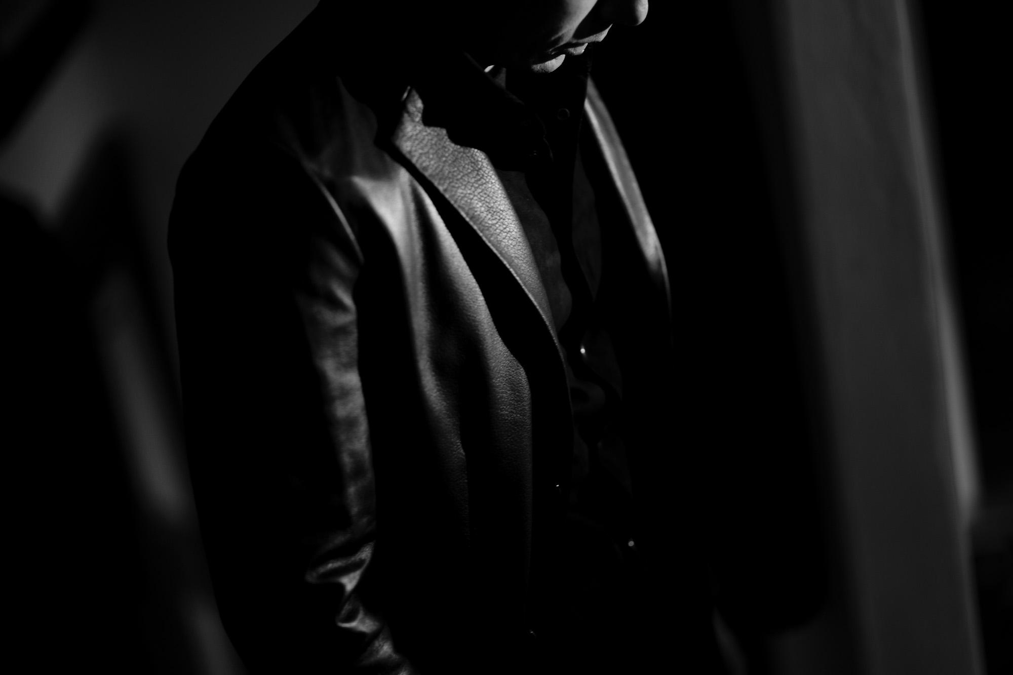 Cuervo (クエルボ) Satisfaction Leather Collection (サティスファクション レザー コレクション) LEON (レオン) BUFFALO LEATHER (バッファロー レザー) シングル テーラード ジャケット BLACK (ブラック) MADE IN JAPAN (日本製) 2019 秋冬 【ご予約開始】 愛知 名古屋 altoediritto アルトエデリット