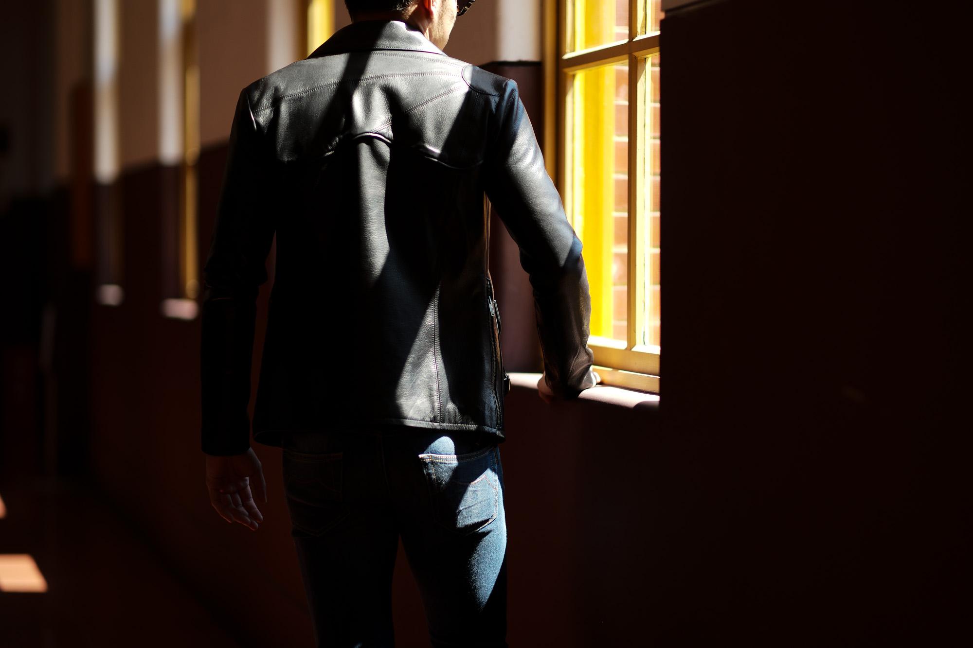 Cuervo (クエルボ) Satisfaction Leather Collection (サティスファクション レザー コレクション) East West(イーストウエスト)  SMOKE(スモーク) BUFFALO LEATHER (バッファロー レザー) レザージャケット BROWN(ブラウン) MADE IN JAPAN (日本製) 2019 春夏 【ご予約受付中】 愛知 名古屋 altoediritto アルトエデリット 洋服屋 レザージャケット サウスパラディソ eastwest