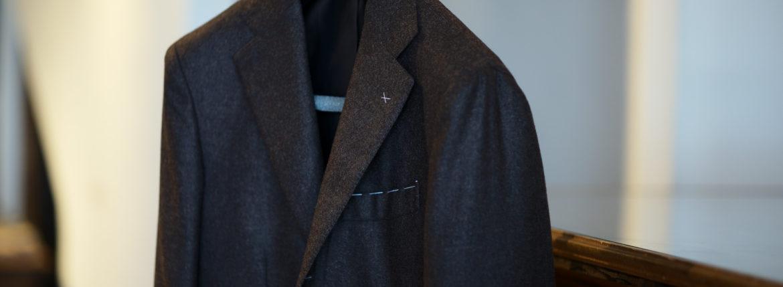 De Petrillo (デ ペトリロ) NAPOLI Posillipo (ナポリ ポジリポ) カシミア モールスキン 段返り3B ジャケット BROWN (ブラウン・358) Made in italy (イタリア製) 2019 秋冬 【ご予約受付中】のイメージ