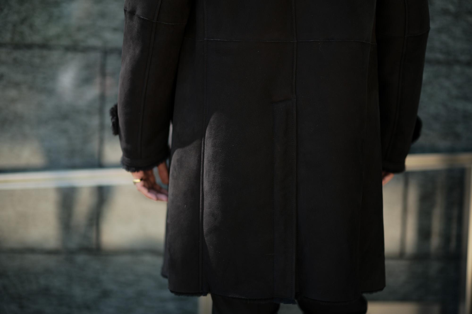 EMMETI (エンメティ) NAT (ナット) Merino Mouton (メリノ ムートン) シングル ムートンコート NERO (ブラック) Made in italy (イタリア製) 2019 秋冬 【ご予約受付中】 愛知 alto e diritto アルトエデリット altoediritto 干場さん 干場着 ユーリ