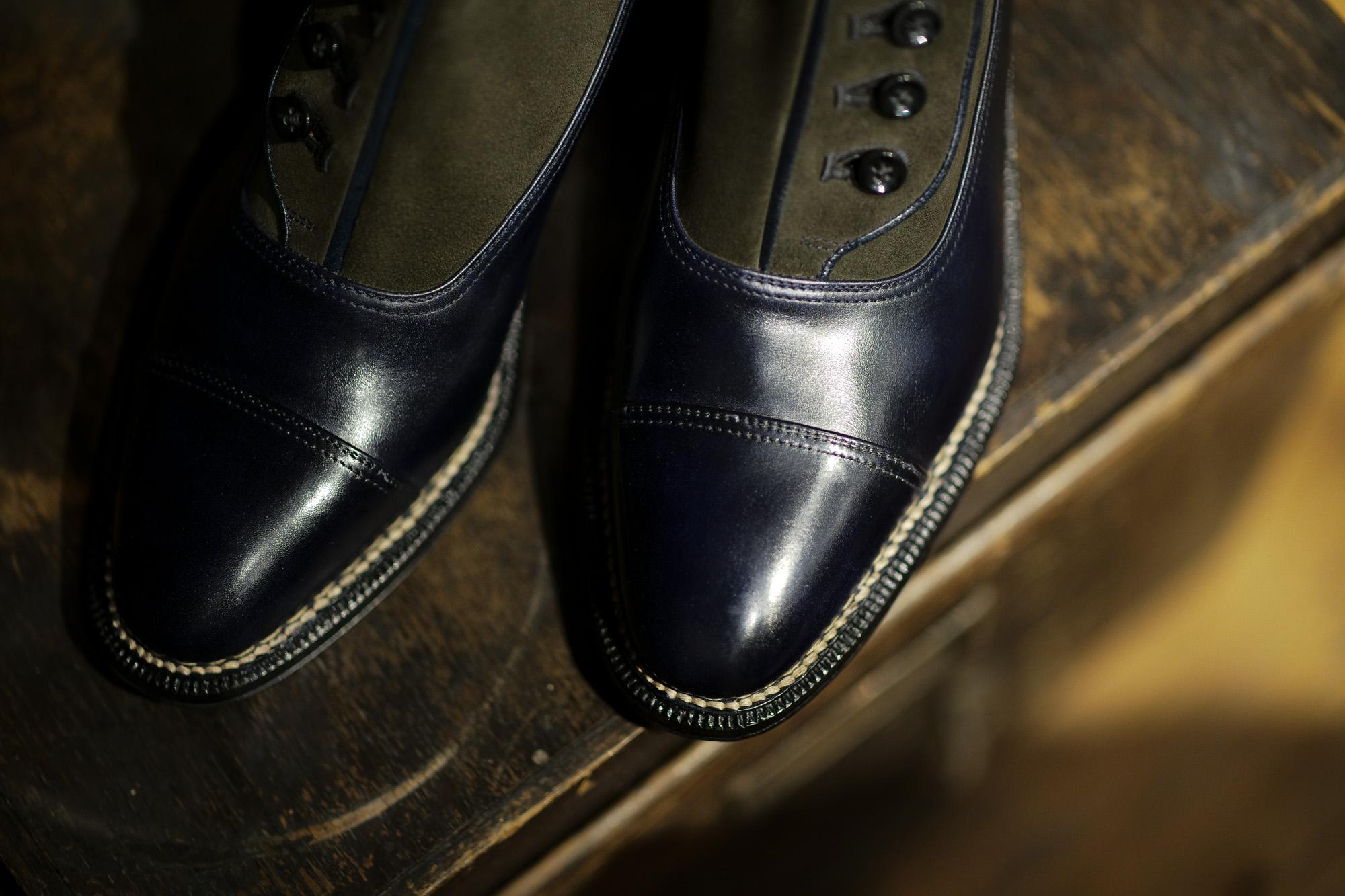 ENZO BONAFE(エンツォボナフェ) ART. 2690 Buttom up Boots(ボタンアップブーツ) MUSEUM CALF(ミュージアムカーフ) ドレスシューズ ドレスブーツ Deep Blue×Loden(ディープブルー×ローデン) made in italy (イタリア製) enzobonafe エンツォボナフェ レザーブーツ 愛知 名古屋 altoediritto アルトエデリット