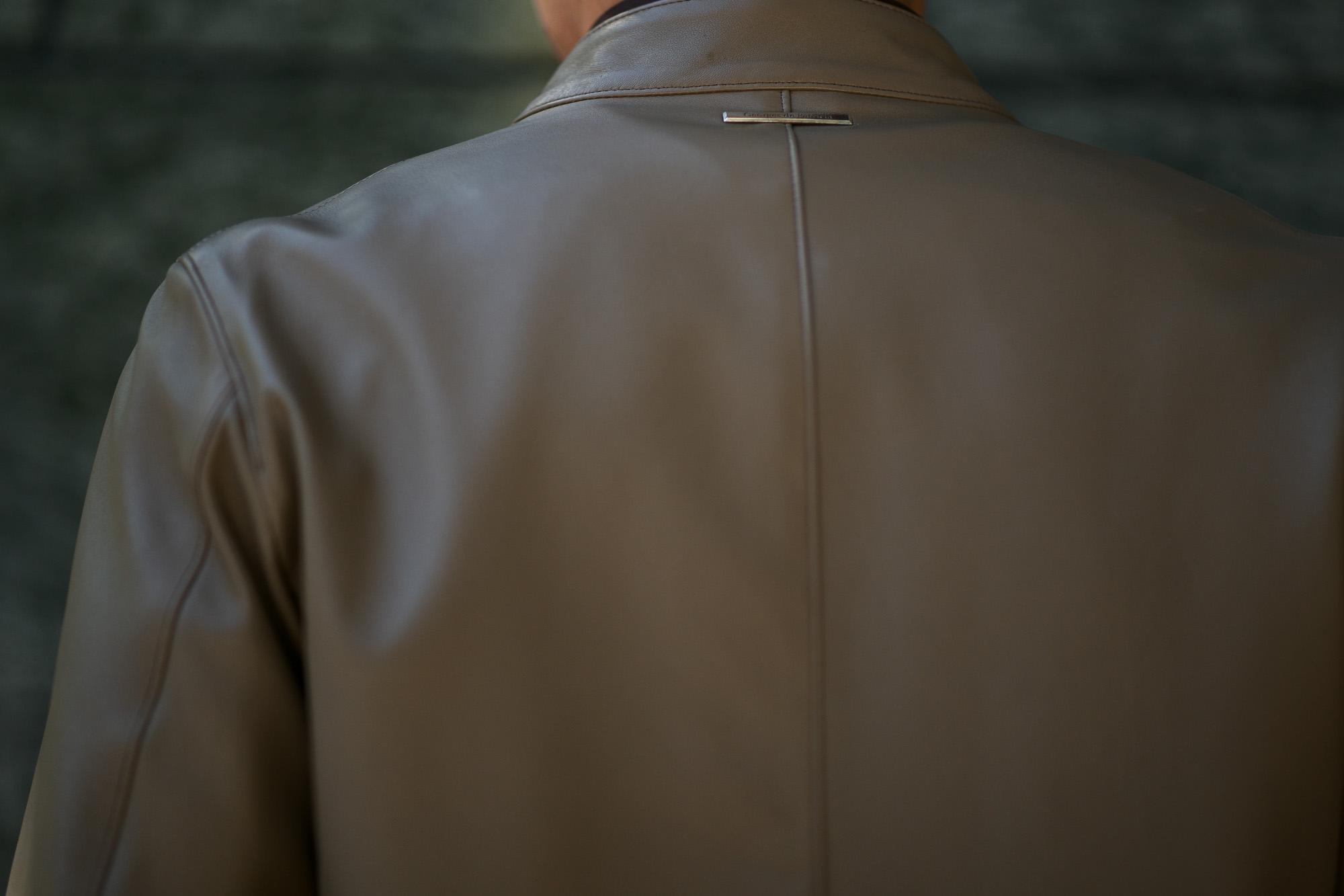 Georges de Patricia (ジョルジュ ド パトリシア) Carrera (カレラ) 925 STERLING SILVER (925 スターリングシルバー) Super Soft Sheepskin シングル ライダース ジャケット GREGE (グレージュ) 2019 春夏新作 【限定スペシャルカラー】【第2便ご予約受付中】georgesdepatricia ジョルジュドパトリシア カレラ ポルシェ  愛知 alto e diritto アルトエデリット altoediritto