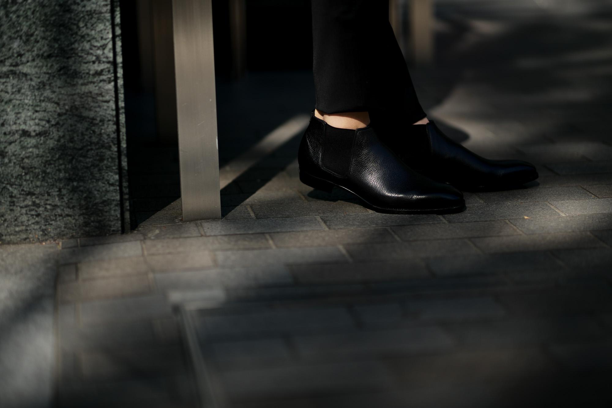 Georges de Patricia(ジョルジュ ド パトリシア) Diablo (ディアブロ) 925 STERLING SILVER (925 スターリングシルバー) Shrunken Calf (シュランケンカーフ) サイドゴアブーツ NOIR (ブラック) 2019 春夏新作 【Special Boots】【第2便ご予約受付中】 アルトエデリット ジョルジュドパトリシア ブーツ 超絶ブーツ ランボルギーニ ディアブロ lamborghini