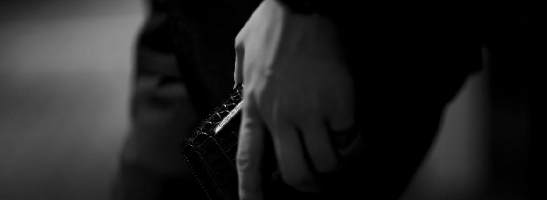 Georges de Patricia(ジョルジュ ド パトリシア) Phantom Crocodile (ファントム クロコダイル) 925 STERLING SILVER (925 スターリングシルバー) Crocodile クロコダイル エキゾチックレザー ショート ウォレット NOIR (ブラック) 2019 春夏 【ご予約受付中】 georgesdepatricia 愛知 名古屋 altoediritto アルトエデリット ロールスロイス ロールス Rolls-Royc