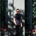 Gran Sasso (グランサッソ) Silk T-shirt (シルク Tシャツ) SETA (シルク 100%) ショートスリーブ シルク Tシャツ NAVY (ネイビー・308) made in italy (イタリア製) 2019 春夏新作のイメージ
