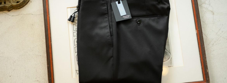 INCOTEX (インコテックス) N35 SLIM FIT (1NT035) SUPER 100'S WOOLLEN TWILL サージウール スラックス BLACK (ブラック・990) 2019 秋冬 【ご予約受付中】愛知 名古屋 altoediritto アルトエデリット
