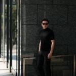 JOHN SMEDLEY (ジョンスメドレー) S3813 Mock neck T-shirt SEA ISLAND COTTON (シーアイランドコットン) コットンニット モックネック Tシャツ BLACK (ブラック) Made in England (イギリス製) 2019 春夏新作のイメージ